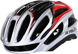MO MAEKER Casco de Bicicleta liviano Microshell Que Cuenta con un Sistema de Confort de 360 Grados con tamaños de Ajuste dial-fit para Adultos jóvenes y niños,Silver