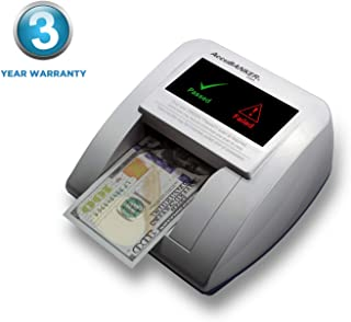 AccuBANKER D470 Quadscan 4-Way Orientation Counterfeit Detector with UV, MG, IR, WM, Image, Length, Spectrum Counterfeit Detection Methods - Optional Battery for Portable Use (No Battery)