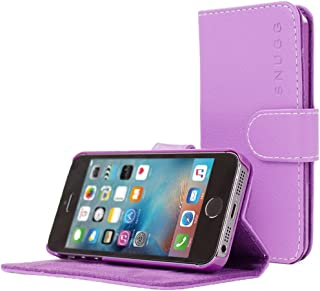 iPhone 5 / 5s Case, Snugg - Leather Wallet Cover Case with (Purple) for Apple iPhone 5 / 5s
