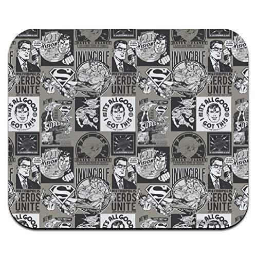 Superman Grey Pattern Low Profile Thin Mouse Pad Mousepad