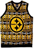 Pittsburgh Steelers Aztec Print Ugly Sweater Vest Extra Large