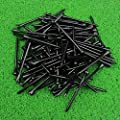 MYKUJA Bamboo Golf Tee 3-1/4 inch Pack of 100 (83mm Black)