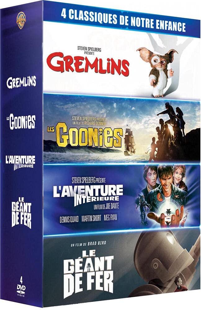 4 classiques de notre enfance - Coffret : Gremlins + Les Goonies + L'Aventure intérieure + Le Géant de fer [Francia]