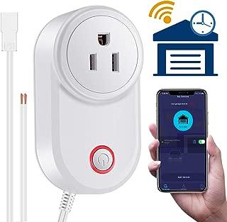 Smart WiFi Garage Door Opener Remote Wireless Smartphone Controlled, Compatible with Alexa Google Assistant and IFTTT, No Hub Needed