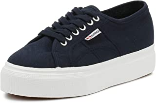 Superga 2790 Linea Up and Down Womens Flatform Trainers in Navy White - 4.5 US M - 6 US W