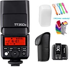 Godox TT350S 2.4G HSS 1/8000s TTL GN36 Wireless Speedlite Flash Light with X1T-S Flash Trigger Transmitter Compatible for Sony Mirrorless Digital Camera (TTL autoflash)
