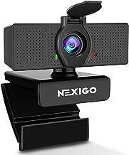 1080P Web Camera, HD Webcam with Microphone & Privacy Cover, 2021 NexiGo N60 USB Computer Camera, 110-degree Wide Angle, P...
