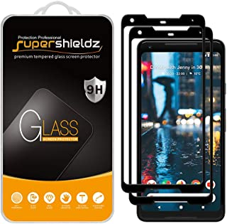 (2 Pack) Supershieldz Designed for Google (Pixel 2 XL) Tempered Glass Screen Protector, (Full Screen Coverage) 0.32mm, Ant...