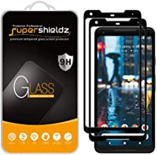 (2 Pack) Supershieldz for Google (Pixel 2 XL) Tempered Glass Screen Protector, (Full Screen Coverage) 0.32mm, Anti Scratch...