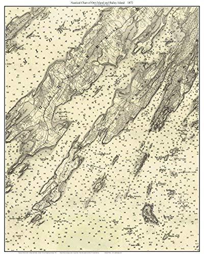 Orrs Island & Bailey Island Maine 1872 Nautical Chart Harbors 2-02 Custom Reprint