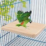 SADA72 Support de perchoir pour oiseau, aire de jeux en bois naturel pour oiseaux, perroquets, aras, perroquets, perruches, calopsittes, conures, inséparables, pinsons, canaris