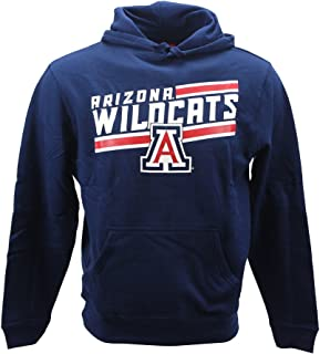 Arizona Wildcats Men's Pull Over Sweat Shirt Team Color Hoodie Blue