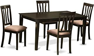 East West Furniture 5-Piece Dining Room Table Set