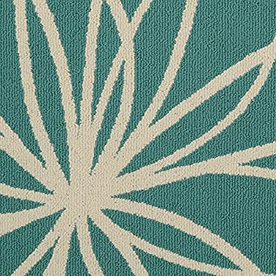 Amazon Com Garland Rug Grand Floral Area Rug 5 X 7 Teal Ivory Furniture Decor