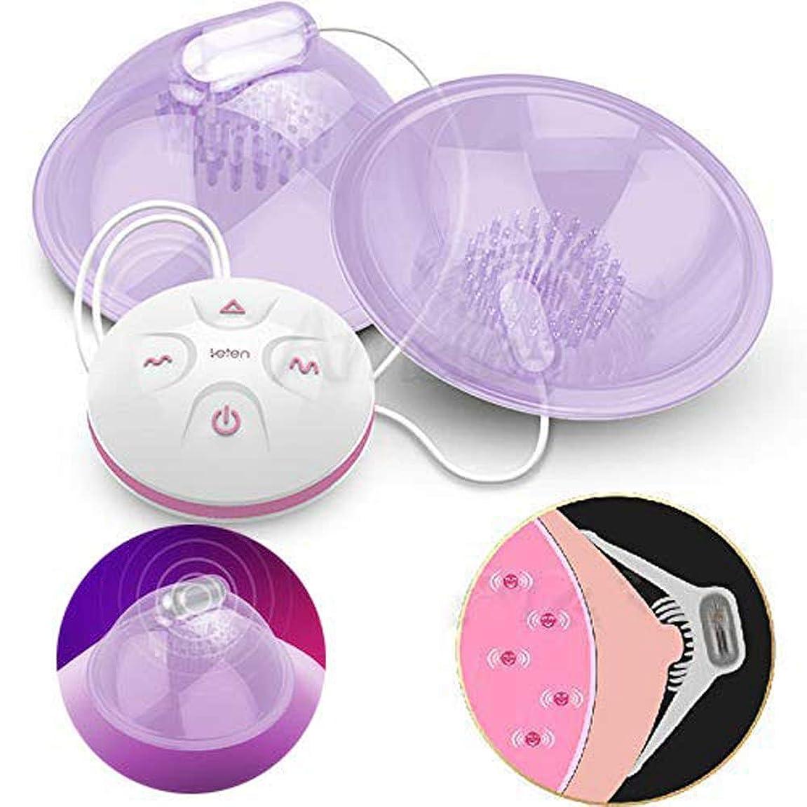宣言するそれ唇充電式Ni-ppleマッサージャー胸胸部刺激装置エンハンサー玩具女性、小売ボックス付き10スピードスピードモード電動ポンプ吸盤
