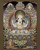 Thangka Avalokiteshvara Lokeshvar Druck Kunstdruck