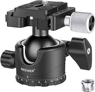 Neewer Professionelle 35MM niedrige Profil Kugelkopf 360 Grad drehbarer Stativkopf mit 1/4 Zoll Schnellwechselplatte mit Wasserwage für DSLR Kameras Stative Einbeinstative, Max. Belastung 12 kg