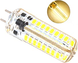 Gecheer GY6.35 Silicone SMD2835 72Light-Emitting Diode AC/DC12V Corn Bulb Corn Lamp for Crystal Chandelier Lighting Lamp A...