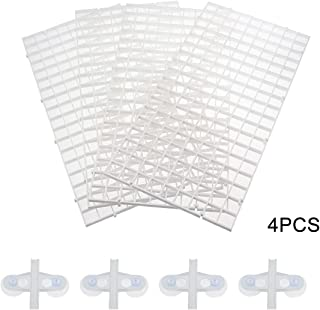 Senzeal 4PCS Aquarium Grid Divider Tray Egg Crate Aquarium Fish Tank Bottom Divider Isolation Board with Sucker Clips