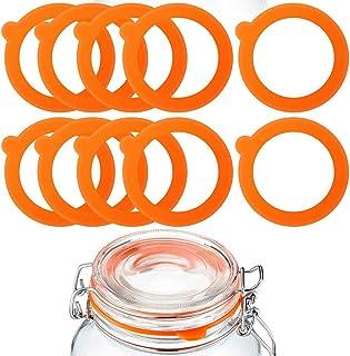 Paquete de 20 juntas de repuesto de silicona juntas de goma herm/éticas para tapas de tarros Mason Tarros color naranja sellos de silicona a prueba de fugas para tarros de cristal con clip superior