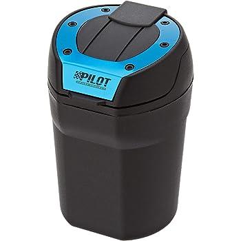 IWILCS Posacenere per auto portatile staccabile portacenere per portacenere con indicatore LED blu e coperchio per veicolo per ufficio cilindro per auto senza fumo
