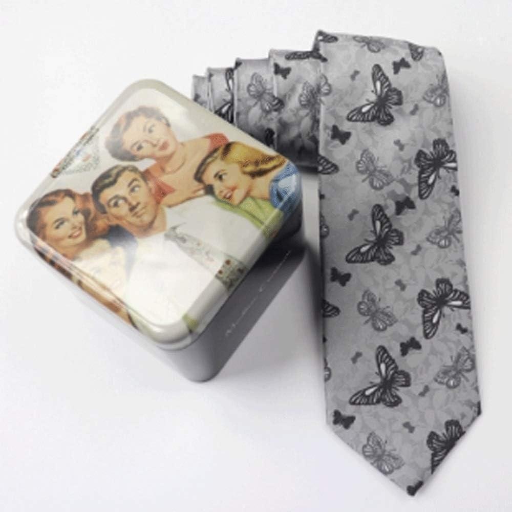 GANFANREN Tie - Men's Necktie Collections, Classic Men's Silk Tie Set Necktie & Pocket Square with Gift Box (Color : A)