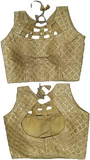 Women's Party Wear Blouse Saree Blouse Saree Designer Indian Style Padded Blouse for Saree Crop Top Choli 584 Cream
