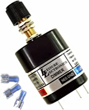 Leisure Lectronics 12 Volt PWM Light Dimmer Switch, 12V LED & Incandescent - Boat, RV, Car