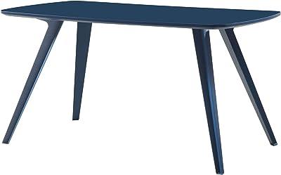 Homemania Table en MDF, métal, Bleu foncé, 140 x 80 x 75 cm