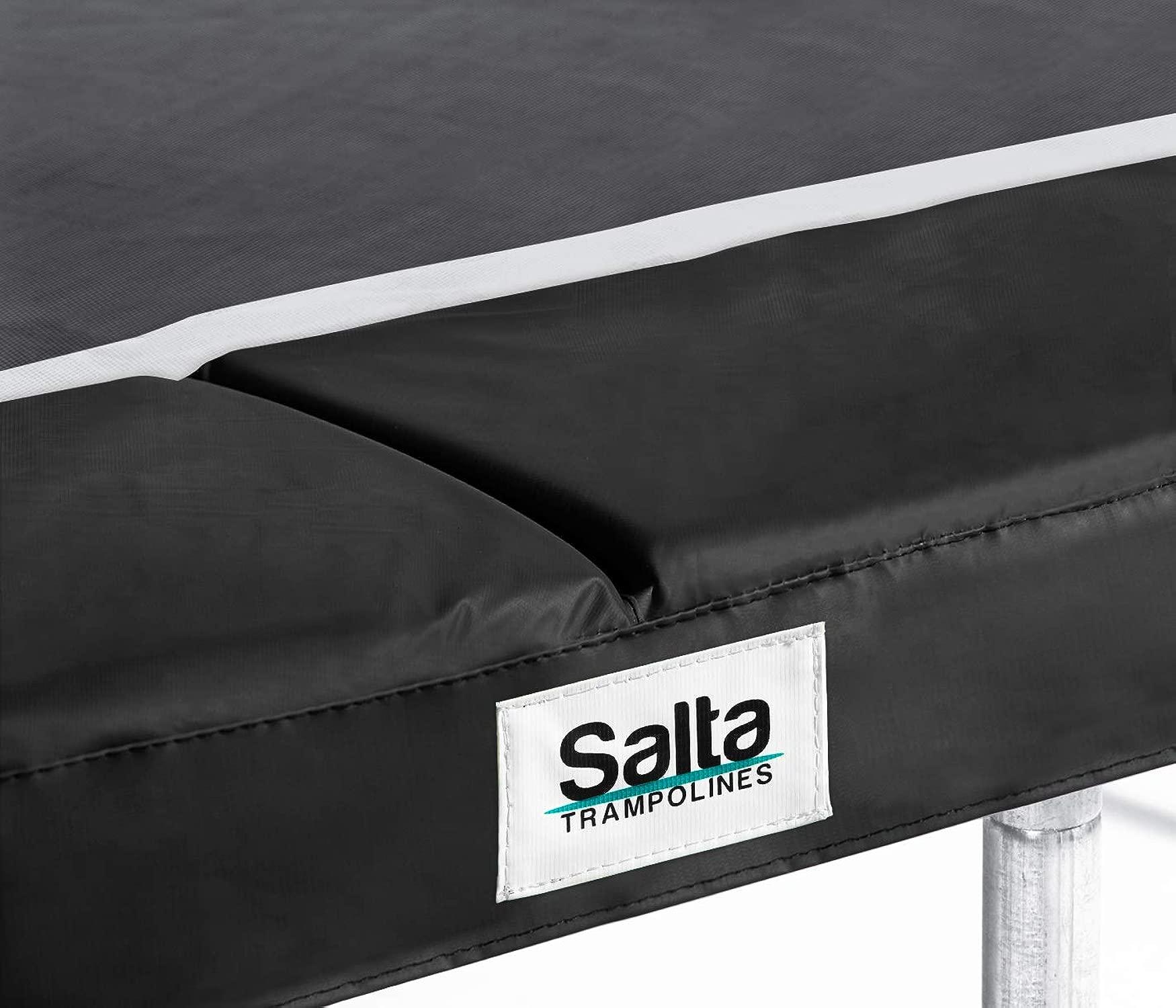 Salta Hochwertiger Schutzrand - rechteckig - 214 x 305cm - Schwarz