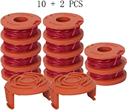 Karen WA0010 String Trimmer for Worx, Replacement Trimmer Auto Feed Spool Line 0.065, Pack of (10 Circles+ 2 Caps)
