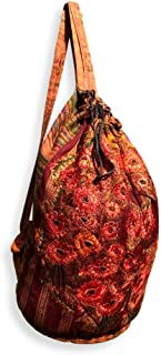 Handmade Guatemalan Carry-On Duffel Bags (Vino, Large)