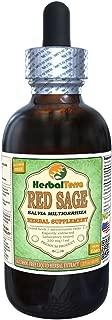 Red Sage (Salvia Miltiorrhiza) Glycerite, Organic Dried Roots Alcohol-FREE Liquid Extract 2 oz
