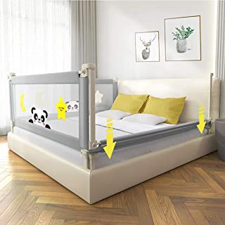 Kerrogee Baby Bed Rail for Toddlers, Foldable Safety Vertical Lifting Rail Guard,Reinforced Stable and Silence Security Ra...