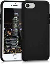 Aminery TPU Silicone Case for Apple iPhone 7/8 - Soft Flexible Rubber Protective Cover - Black
