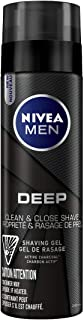 NIVEA Men DEEP Shaving Gel With Active Charcoal (200mL), Shaving Gel for All Skin Types, For Men Who Want an Ultra-Close R...