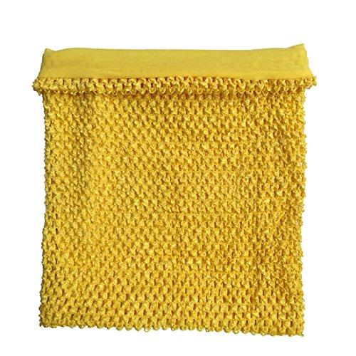 Marigold Crochet Tutu Top Lined 12 Inches X 10 Inches Elastic Crochet Tube Top