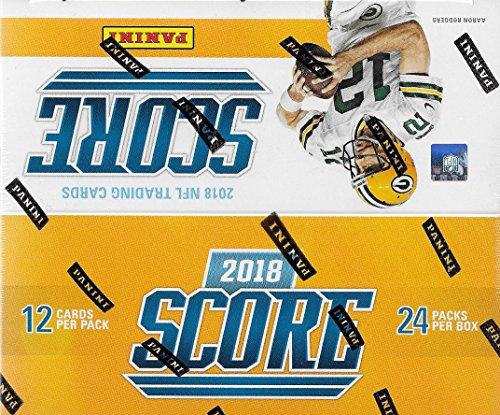 2018 Score NFL Fußball ungeöffnet, Box mit 24 Packungen mit 288 Karten inklusive 72 Rookies und 48 Einlagen pro Box, durchschnittlich mit möglichen Rookie-Autogrammen