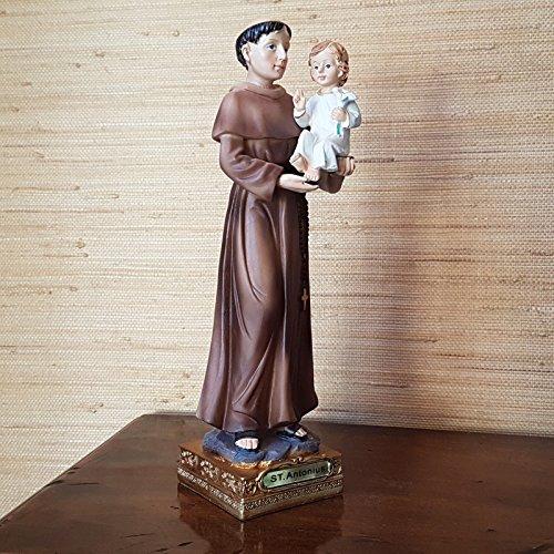 BGT Heiliger Antonius von Padua Deko Figur Heiligenfigur Jesuskind Religions Statue