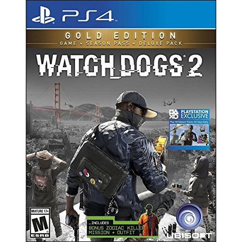Ubisoft - Watch Dogs 2: Gold Edition (Foreign box but all Lang in Game) /PS4 (1 Games)