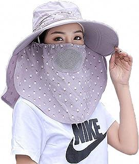 ToBe-U - Sombrero con Visera para Mujer UPF + 50, con Solapa Desmontable, Plegable, ala Ancha, protección UV