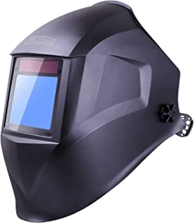 TACKLIFE Welding Helmet, Top Optical Clarity (1/1/1/1), Wide Shade Range DIN 3/3-8/9-13, Large Viewing Area (3.94