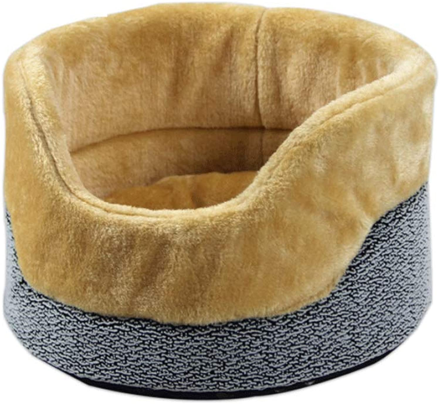 Cat Bed, Fenced Small Cat Dog Pet Bed Removable and Washable Four Seasons Universal Pet Nest 35×35×21cm (color   A)