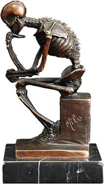 Toperkin Skeleton Thinker TPE-998 Bronze Statues Sculptures Home Decor
