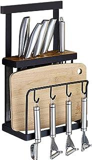 AZDS Support Mural à Double étagère de Rangement pour Couteaux pour ustensiles de Cuisine pour la Maison, étagère Suspendu...