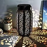 Maggift 12Lumens Lampes solaires à Suspendre extérieur Lampes solaires à Suspendre Rétro Lanterne Solaire avec Poignée 1 Pack Retro Brown