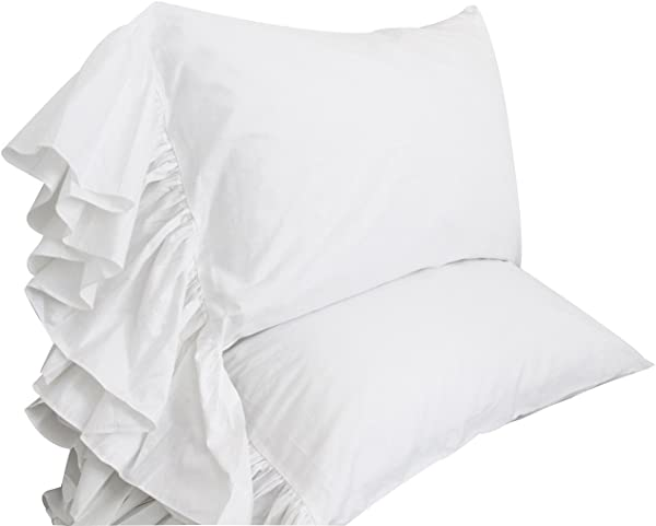 Queen S House White Ruffles Bed Sheets Set Cotton Queen Size Sheets Style G