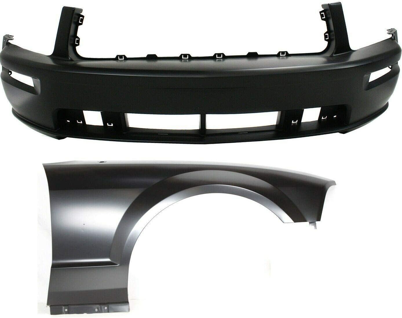 JENCH Bumper Cover Max 44% OFF Kit Compatible 4 years warranty with 2005-2009 Fr Ford Mustang