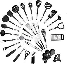 Cooking Utensils Kitchen Utensil Set 40-Piece Cooking Utensils Nylon and Stainless Steel Utensil Nonstick Spatula Set