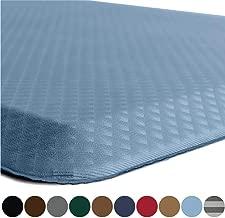 Kangaroo Original Standing Mat Kitchen Rug, Anti Fatigue Comfort Flooring, Phthalate Free Pads, Waterproof, Ergonomic Floor Pad for Office Stand Up Desk, 48x20, Sky Blue